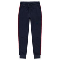Junior - Pantalon de jogging en molleton avec bandes contrastées