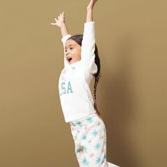 Pyjama en sherpa print et sequins Reine des Neiges Disney