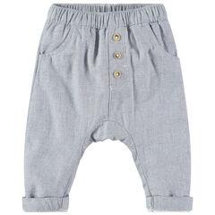 Pantalon en coton fantaisie style sarouel