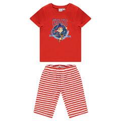 Pyjama avec tee-shirt manches courtes et bermuda Disney print Jake