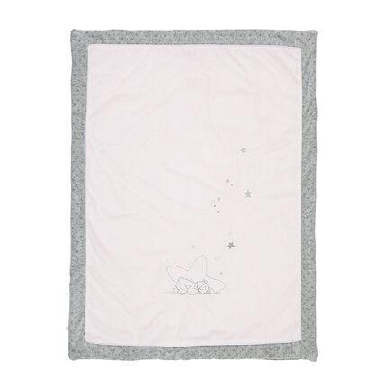 Couverture Poudre d'Étoiles Rose - 75 x 100 cm