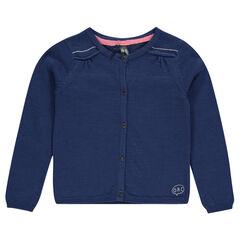 Junior - Gilet uni en tricot slub