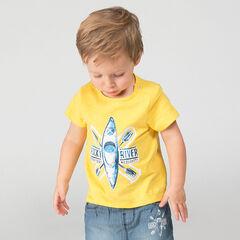 Tee-shirt manches courtes en jersey slub avec print kayak