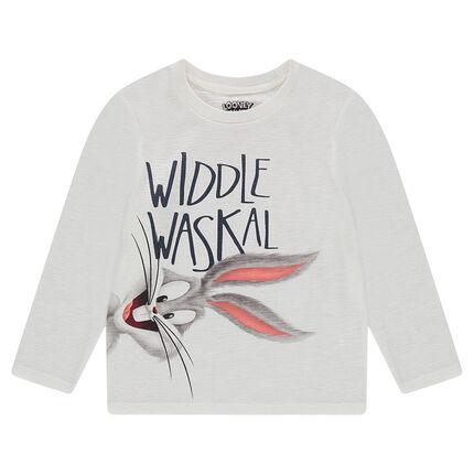 Tee-shirt manches longues en jersey slub avec print ©Warner/Looney Tunes Bugs Bunny
