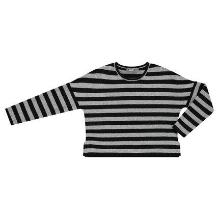 Junior - Pull en tricot rayé manches longues