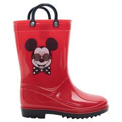 Bottes de pluie garçon unies motif Mickey du 24 au 27