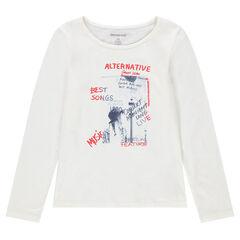 Junior - Tee-shirt manches longues avec message imprimé