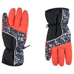 Junior - Gants de ski imperméables avec motif graphique