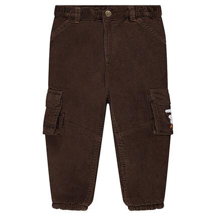 Pantalon en velours doublé micropolaire avec poches à rabat