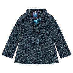 Manteau 3/4 effet tweed
