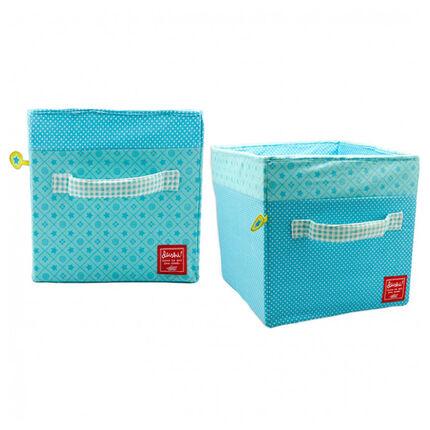 Lot de 2 boîtes de rangement - Bleu
