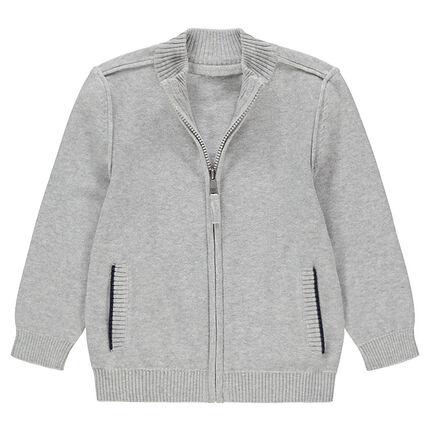 Gilet en tricot zippé avec poches