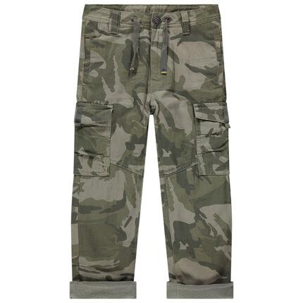 Pantalon army doublé micropolaire à poches