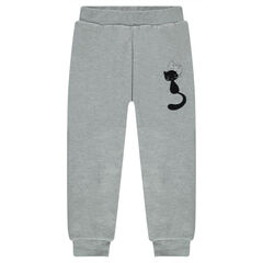Pantalon de jogging en molleton doublé sherpa