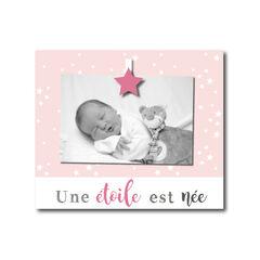 """Cadre à poser """"Une étoile est née"""" - Rose"""