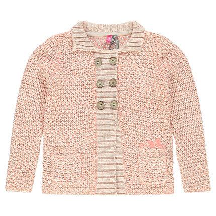 Gilet en tricot fantaisie avec poches