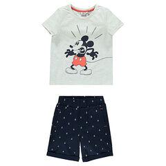 Ensemble de plage Disney avec tee-shirt Mickey et bermuda