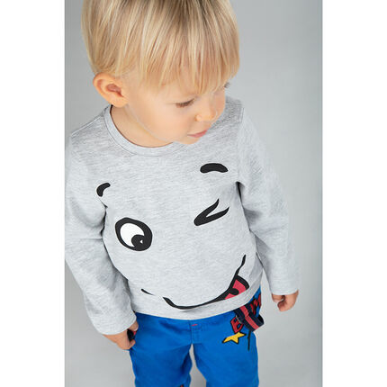 Tee-shirt manches courtes en jersey avec personnage printé