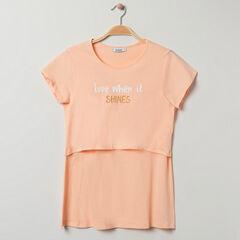 T-shirt homewear de grossesse et d'allaitement à message , Prémaman