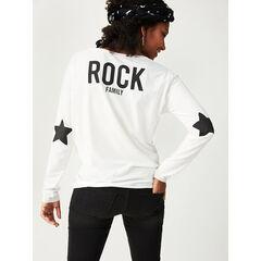 """T-shirt de grossesse manches longues print """"Rock"""" et étoiles"""