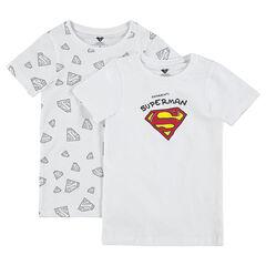 Lot de 2 maillots de corps avec print logo ©Warner Superman