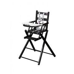 Chaise haute extra pliante Sarah – Laqué noir