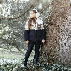 Doudoune à capuche doublée sherpa à bande métallisée pour enfant fille , Orchestra