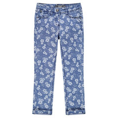 Junior - Jeans slim imprimé