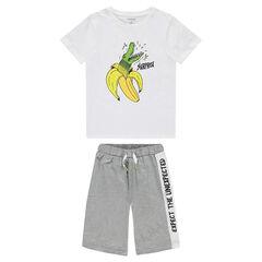 Junior - Pyjama en jersey court avec print fantaisie