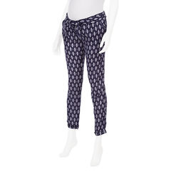 Pantalon de grossesse imprimé all-over coupe carotte