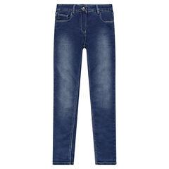 Junior - Jeans en molleton effet denim
