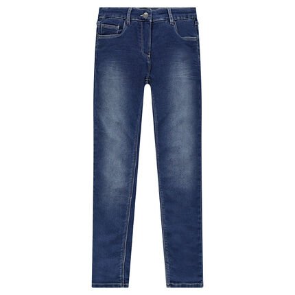 Junior - Jeans en molleton effet denim