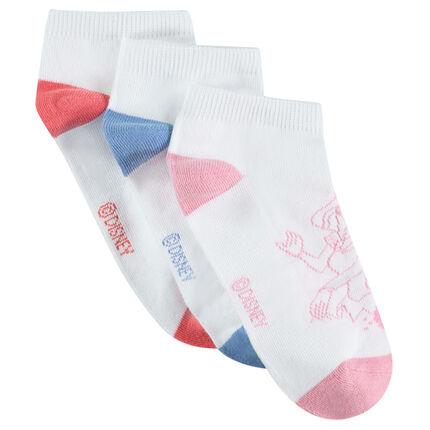 Lot de 3 paires de chaussettes courtes avec princesses ©Disney en jacquard