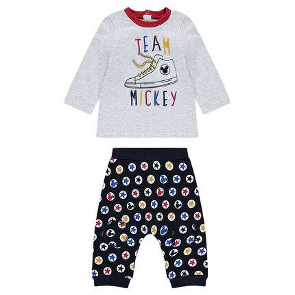 Ensemble tee-shirt manches longues et pantalon Disney Mickey
