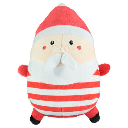 Peluche en velours forme Père Noël