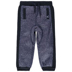 Pantalon de jogging en molleton finitions contrastées