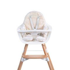 Coussin de chaise Evolu - Fourrure blanc cassé