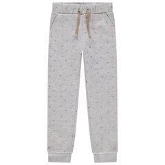 Pantalon de jogging en molleton à imprimé all-over