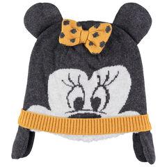 Bonnet Minnie en tricot doublé sherpa