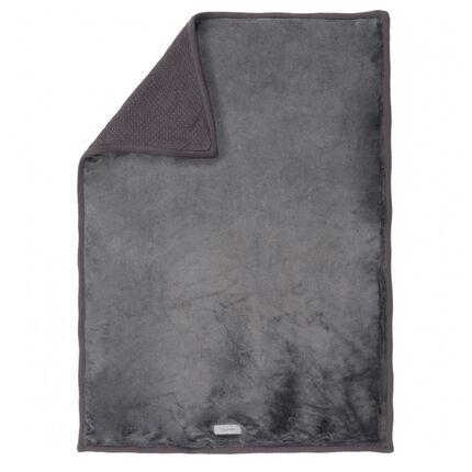 Couverture Mix & Match tricoloudoux gris foncé - 100 x 140 cm