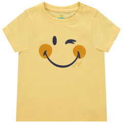 T-shirt manches courtes en coton bio print Smiley , Orchestra
