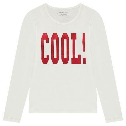 Junior - Tee-shirt manches longues avec photo print fantaisie sur le devant