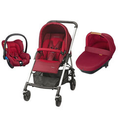 Poussette trio Streety Amber - Robin Red