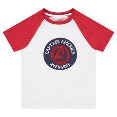 Tee-shirt manches courtes en jersey avec motif en sequins magiques Avengers ©Marvel