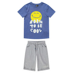 Junior - Pyjama en jersey avec ©Smiley printé