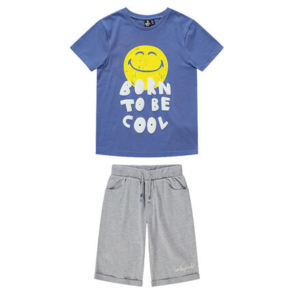 Junior - Pyjama en jersey avec Smiley printé