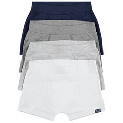 Lot de 4 boxers en coton chiné
