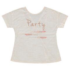 Junior - Tee-shirt manches courtes brodé avec dos en dentelle