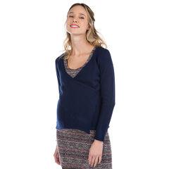 Gilet de grossesse en tricot avec ouverture croisée