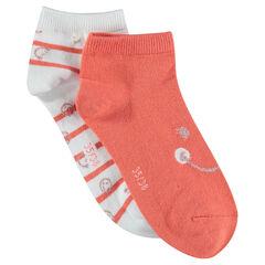 Lot de 2 paires de chaussettes unies / rayées ©Smiley